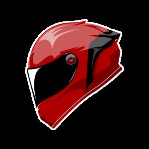 Motorrad helm Rot