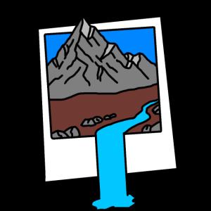 Berglandschaft im Bilderrahmen