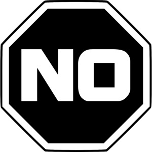 stopp sag nein