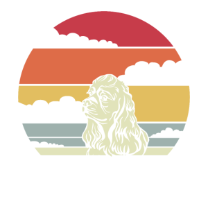 Amerikanischer Cocker Spaniel Retro Motiv