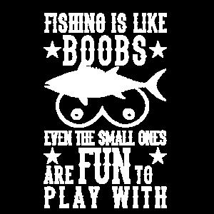 Wie Brüste Angler Spruch Fischer lustiger
