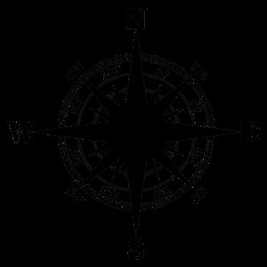 Kompass reise Himmelsrichtung