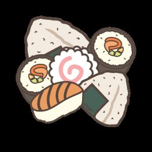 Sushi Maki Nigiri Reisbällchen Mochi Japan