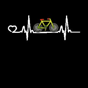Fahrrad Herzschlag Fahren Rad Rennrad Geschenk