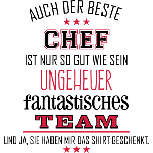 Bester Chef fantastisches Team - T-Shirt