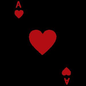 Herz Ass Spielkarte Karneval Kostüm Poker Casino
