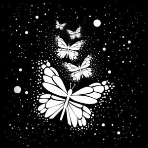 Schmetterlinge aus Sternen
