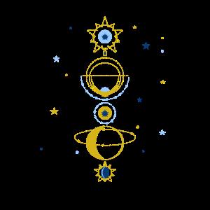astronomy stars science physics gold night romance
