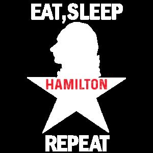 Essen-Schlafen-Hamilton-Wiederholung