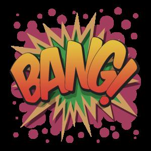 Comic-Cartoon-Text platzen - Bang!