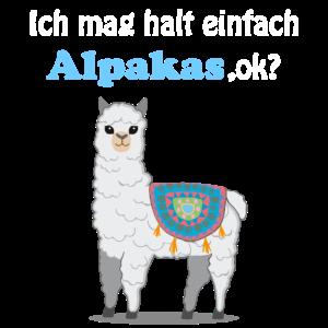 Lama Alpaka Spruch Geschenk Damen Herren Kinder