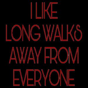 Lange Spaziergänge rot