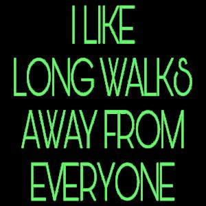 Lange Spaziergänge grün