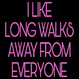 Lange Spaziergänge rosa