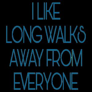 Lange Spaziergänge blau