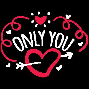 ONLY YOU Valentinstag Geschenk Für Freundin