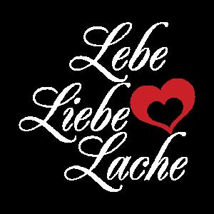 LEBE LIEBE LACHE Valentinstag Geschenk Freundin
