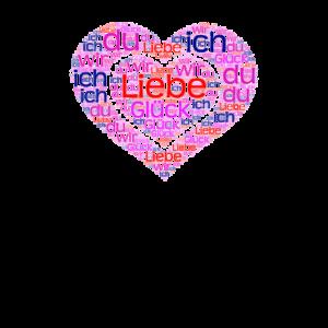 LOVE RETRO HERZ Valentinstag Geschenk Für Freundin