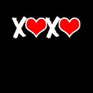 XOXO mit Herz Valentinstag Geschenk Für Freundin