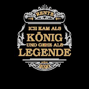 Rente 2020 König Legende Abschiedsgeschenk Rentner