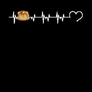 Pfannkuchen-Pfannkuchen-Herzschlag für den Pfannkuchen-Liebhaber
