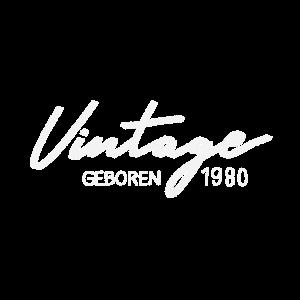50 Geburtstag 50. Vintage Geschenk geboren 1980