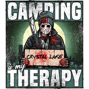 camping is my therapy shirt für den campingplatz
