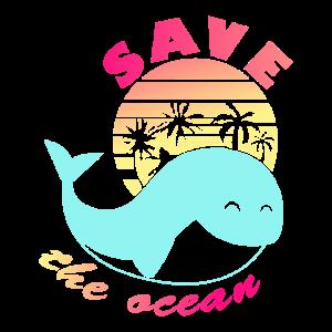 RETTEN Sie das verantwortliche Ökologiet-shirt des Ozeans