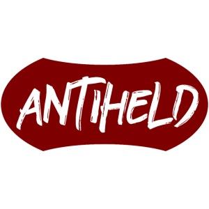 Antiheld Typografie Wappen