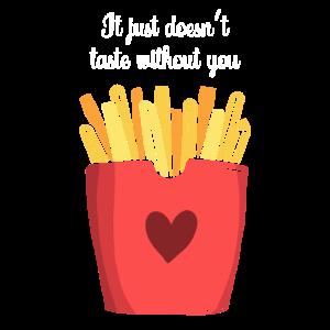 ketchup und pommes Valentinstag Geschenk pommes