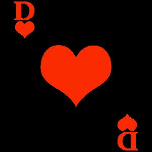 Karneval & Fasching Queen Herz Dame Kartenspiel