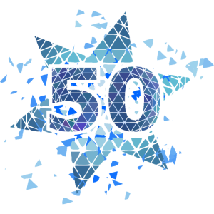 50 Jahre Party blau