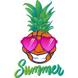 basketball pineapple summer sunglasses