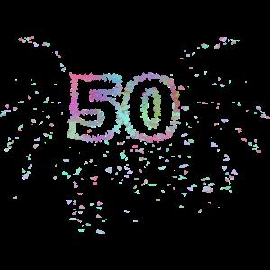 Geburtstagsfeier - 50 mit Feuerwerk