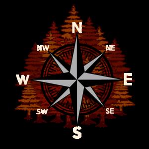 Wildnis Kompass Outdoor Naturfreund Wald