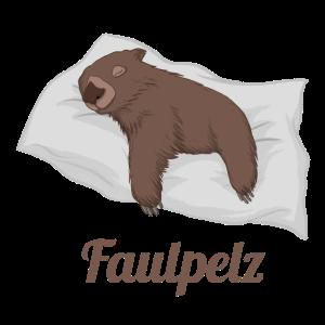 Faulpelz / Wombat auf Kissen