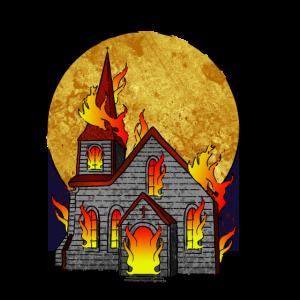 Brennende Kirchen