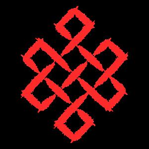 Symbol Unendlich Knoten Buddhismus Glück