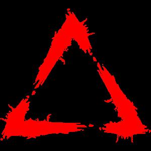 Symbol Dreieck Bürste Design Neu Rot