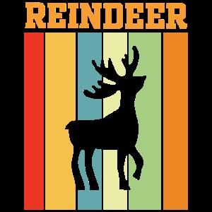 Rentiere Retro Farbenspiel