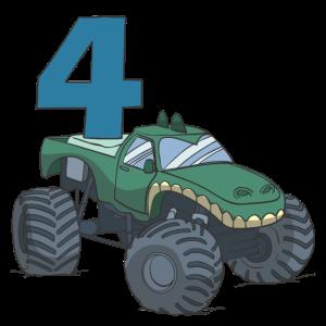 Monster Truck Kindergeburtstag 4. Geburtstag