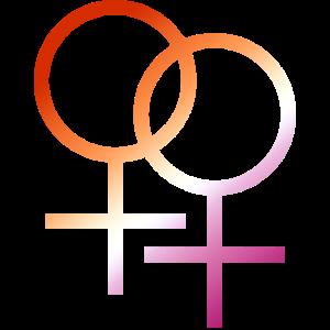 Bunter T-Shirt Entwurf des lgbt lesbischen Symbols