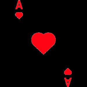 Herz Ass Spielkarte Karneval Fasching Partnerlook