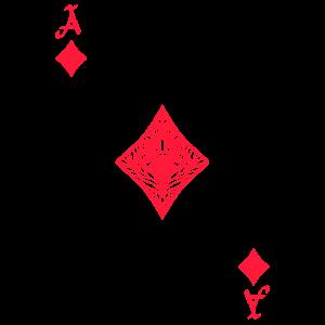 Karo Ass Spielkarte Kartenspiel Kostüm Fasching
