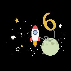 6. Geburtstag astronaut