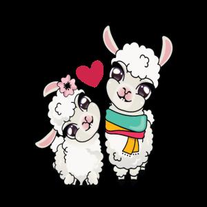 Valentinstaglama lieben zwei Lamas