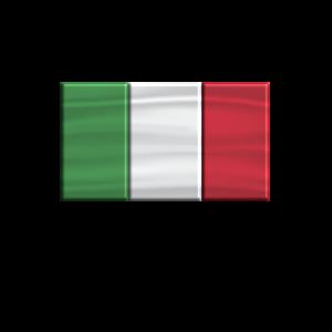 Italien Flagge 3 D