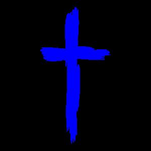 Kreuz Christentum Religion Blau