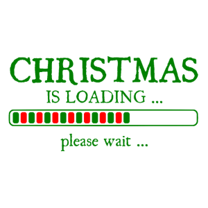 Christmas is loading please wait - Weihnachten