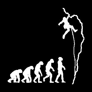 Klettern Evolution Bouldern Kletterer Geschenk